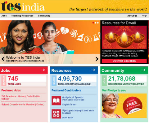 TES India, Education Jobs, free Teaching Activities & Worksheets